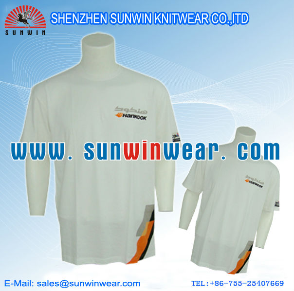 make in china 100%cotton t-shirt in guangzhou ow Wholesale Blank T shirts Customized Printing / Embroidery Design Service