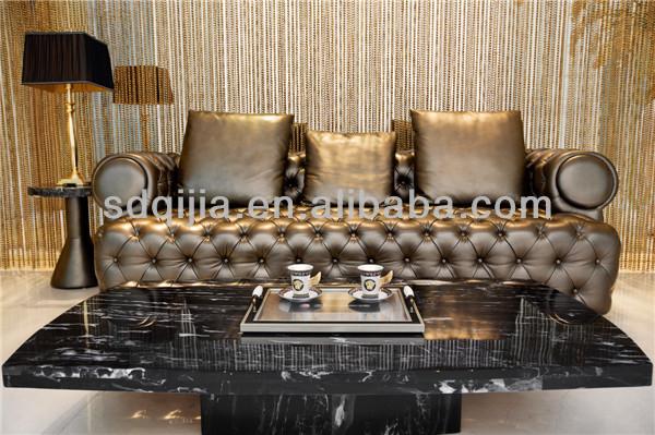 american style luxus chesterfieldsofa dunkelgrauem leder sitzgruppe wohnzimmer m bel wohnzimmer. Black Bedroom Furniture Sets. Home Design Ideas