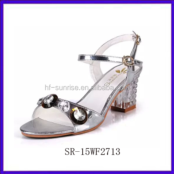 Sr-15wf2712 Flat Pu New Stylish Fancy Flat Sandals Women Black ...