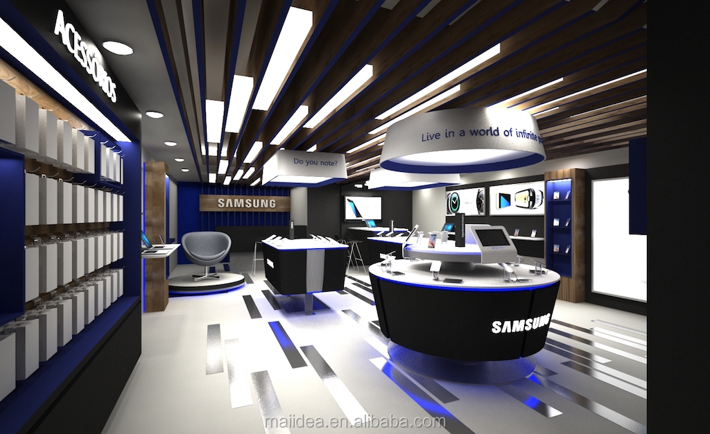 retail apple phone experience store phone shop interior design with display