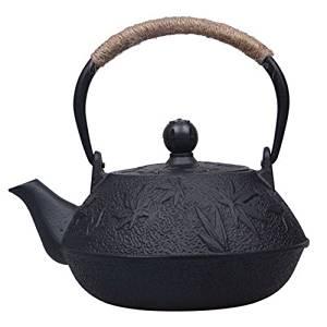 Iron supplementation domestic southern iron kettle ih teapot fashionable autumn leaves pattern Marutsumami 0.9L IPC009
