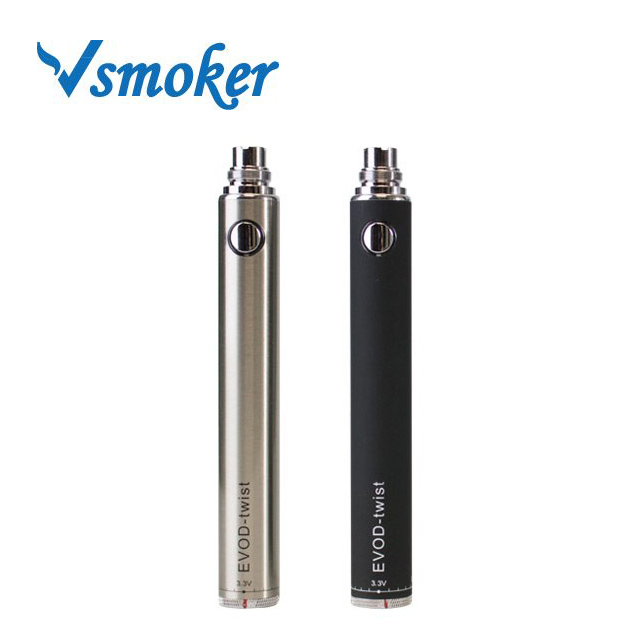China Shenzhen Wholesale 650Mah/900Mah/1100Mah Colored Smoke E Cigarette Hemp Evod Twist Battery