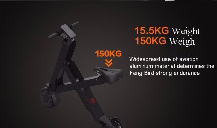 X-bird 30KM/50KM Foldable Electric Scooter Portable Mobility folding electric bike lithium rechargeable battery bicycle