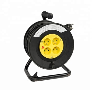 50m Waterproof Retractable French Cable Reel Extension Reel