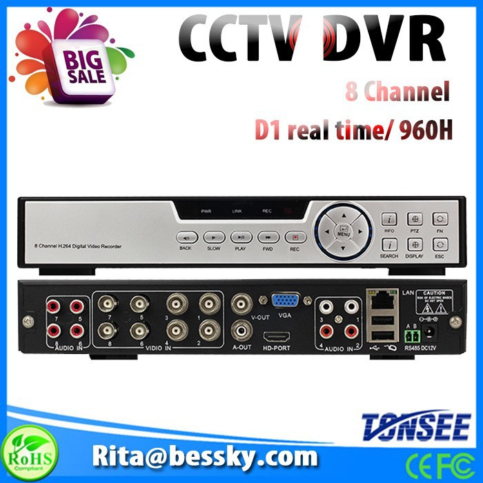 8ch <strong>dvr</strong> full hd with standalone h 264 network <strong>dvr</strong> software