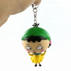 Custom 3D Plastic Small Sakura Momoko Cartoon Figures Key Chains