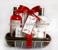 Ceramic & Wire Tray Bath Gift Set bath and body care products