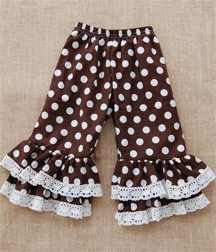 lace kids knit pant wholesale triple ruffle pants boutique children ruffle pants