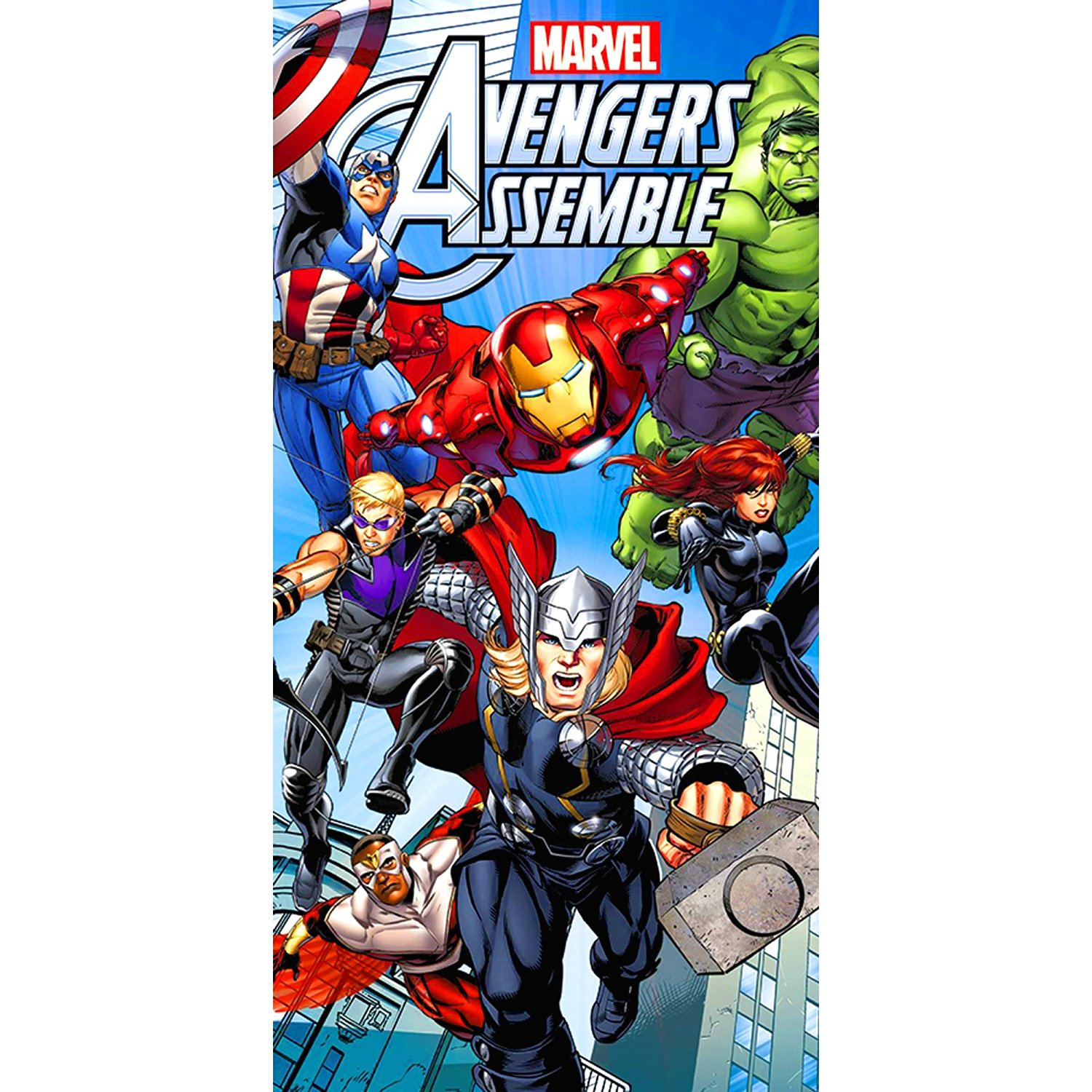 MARVEL Avengers Assemble Large Printed Cotton Beach Towel