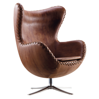 vintage style armchair egg chair with leather cover buy egg chair