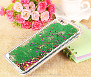 Colorful 3D Moving Stars Liquid Glitter Quicksand Bling TPU Phone Case Cover For Apple Iphone 6 6s Plus Shining Star Liquid Case