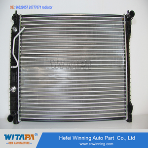 OEM quality auto radiator by manufacture 96629057 20777071 for chevrolet captiva car