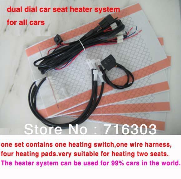 Carbon Fiber Universal Heated Seat Heater Kit Car Cushion: Universal Car Seat Carbon Fiber Heater System/car Heating