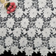 100% polyester white water soluble embroidered chemical lace fabrics
