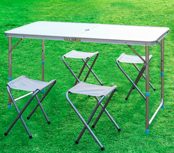 Tremendous Portable Ultralight Height Adjustable Aluminum Table Folding Outdoor Table Stool Set For Dining Picnic Camping Bbq Buy Outdoor Dining Table Inzonedesignstudio Interior Chair Design Inzonedesignstudiocom