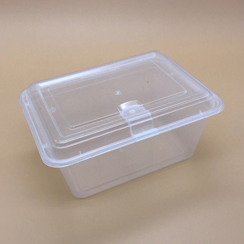 22 oz/660 ml plastic wegwerp lunch verpakking wegnemen bento box wih air vent