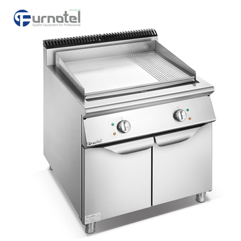 2018 Furnotel Commercial Electric Stainless Steel Half Griddle Plate and Half Grill Machine