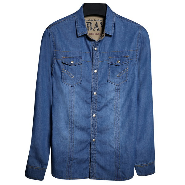 afd5ba89be9 Get Quotations · Spring   Autumn Men Fashion Jeans Shirts Size M-2XL Youth  Man Cotton Shirts Long