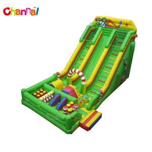 Large inflatable double lane slide inflatable dry slide for kids and adults