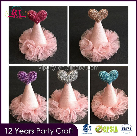 Taobao Happy Birthday Crown Hat With Glitter Heart For Birthday Girl And Birthday Boy