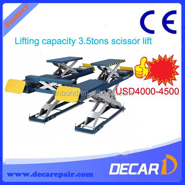Cheap hire scissor lift cost for sale