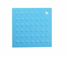Factory supply custom plate dish placemat square anti slip silicone trivet mat for hot pot bowl