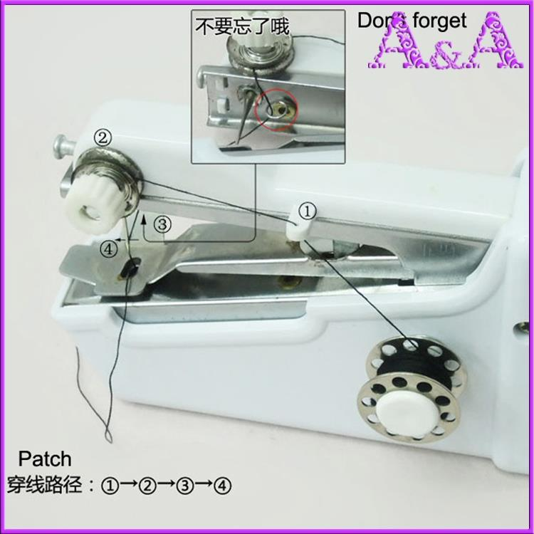 Hand-held Pocket Sewing machine Household Hot Mini Clothes Design Pocket-sized