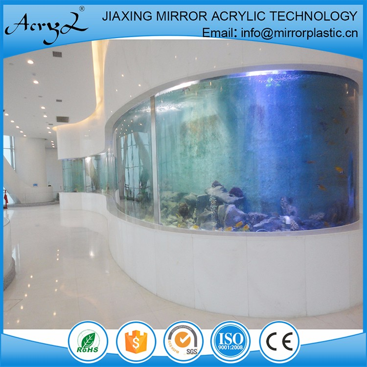 Factory Direct S-shaped Round Acrylic Fish Tank