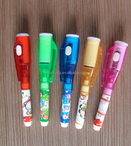 mini size invisible ink marker pen with built-in UV light , UV blacklight marker pen , magic spy pen CH-0816S