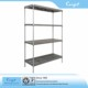 Commercial Storage and display removable polymer plastic shelf racks loading capacity 250kg per shelf