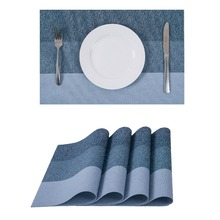 Placemats Heat resistant Placemats Stain Resistant Washable PVC Table Mats