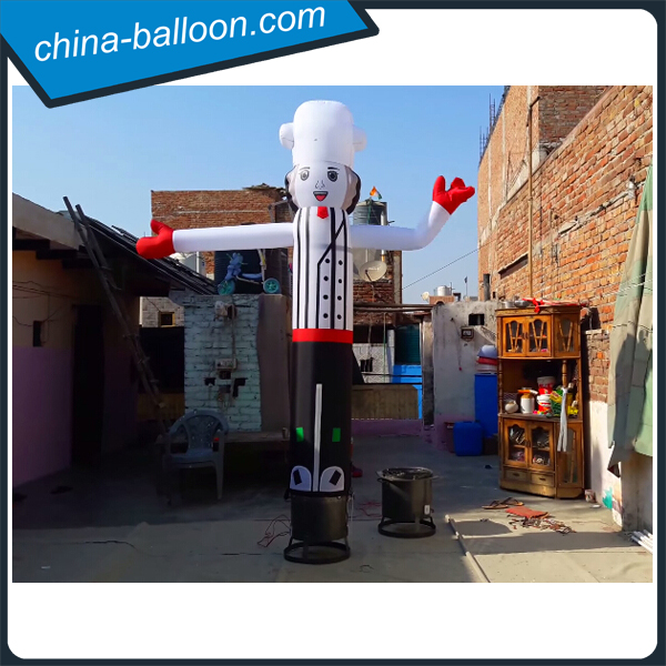 Cute cook sky dancer balloon / inflatable chef air dancer for restaurant advertising