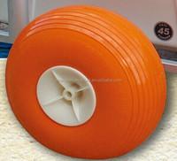 Rubber boat dollies ballon wheel with plastic rim