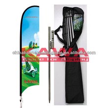 Fiberglass telescopic beach flags used flag poles sale