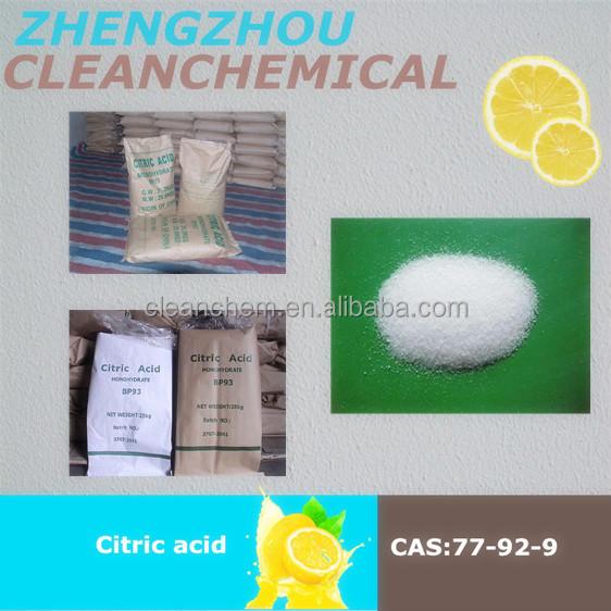Blanc citrique acide poudre pour le march cor en - Acide citrique poudre ...