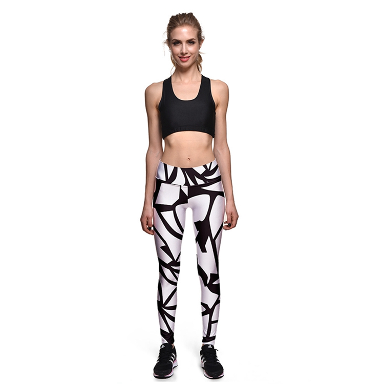 Quickly dry tight yoga pants black sports running gym leggings for women