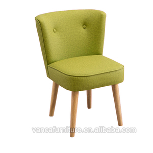 Japanese Style Green Fabric Home Kitchen Timber Wooden Dinner Chair