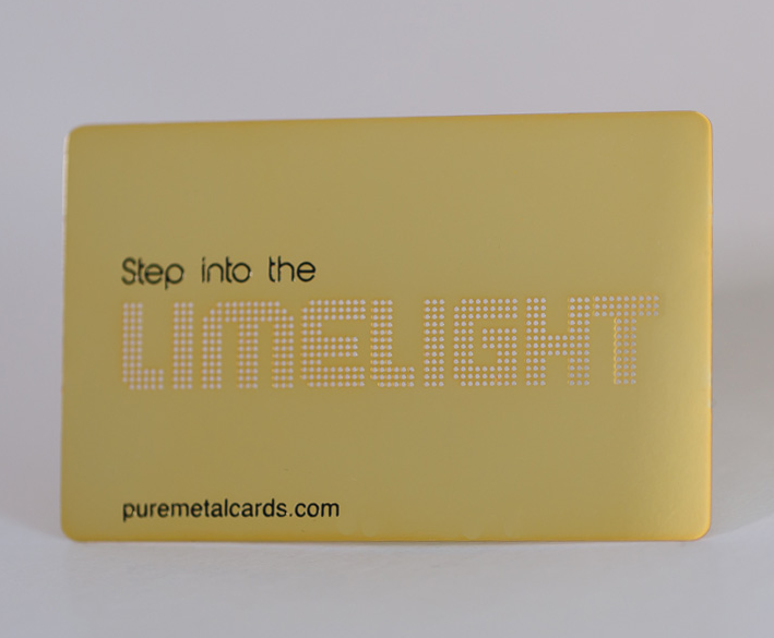 Etch with 1 color c brushed card with Unique name, number, date
