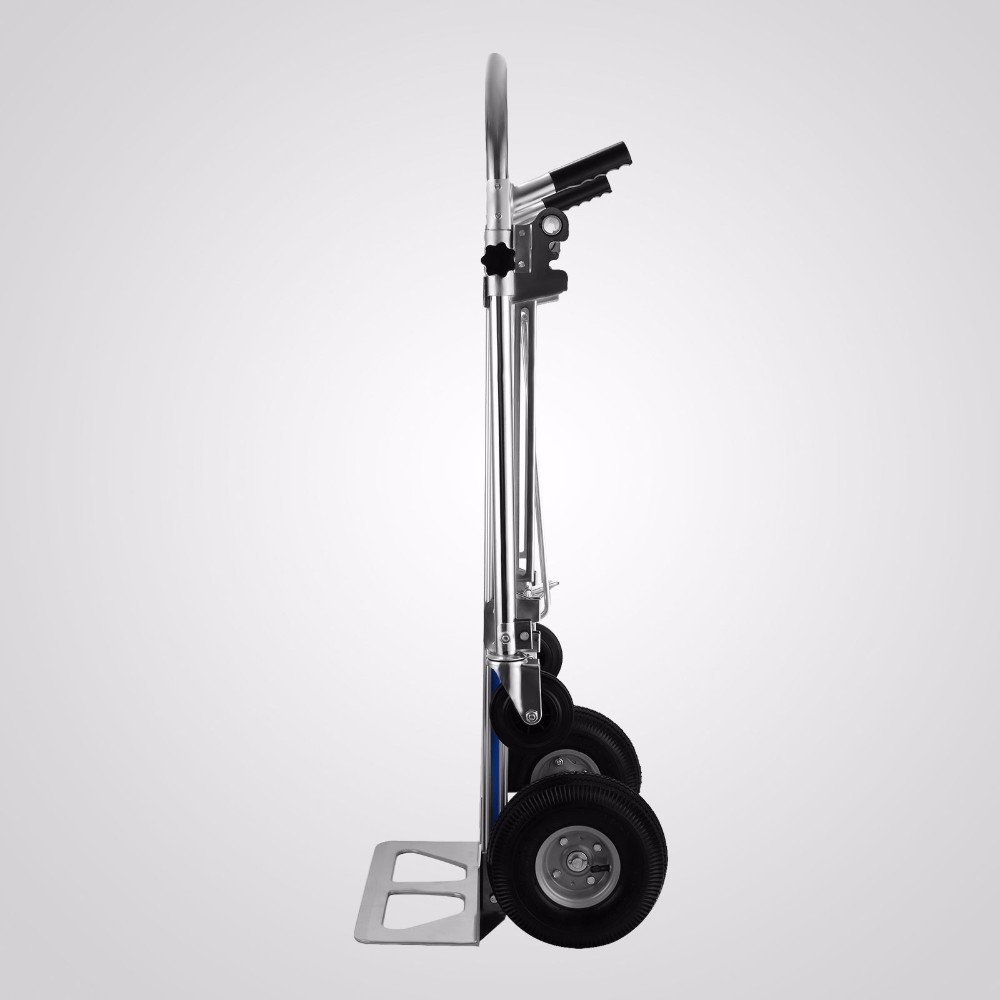 Vevor Folding Hand Truck 3 In 1 Convertible Hand Truck