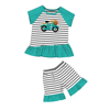 New Arrival Baby Girl Summer Clothes Cute Embroidery Whale Top With Pink Shorts Set Baby Summer Boutique Clothing
