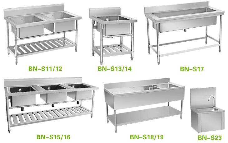 Restaurant Kitchen Sinks Stainless Steel Warewashing equipment stainless steel 3 compartment sinks bn s06 warewashing equipment stainless steel 3 compartment sinks bn s06 workwithnaturefo