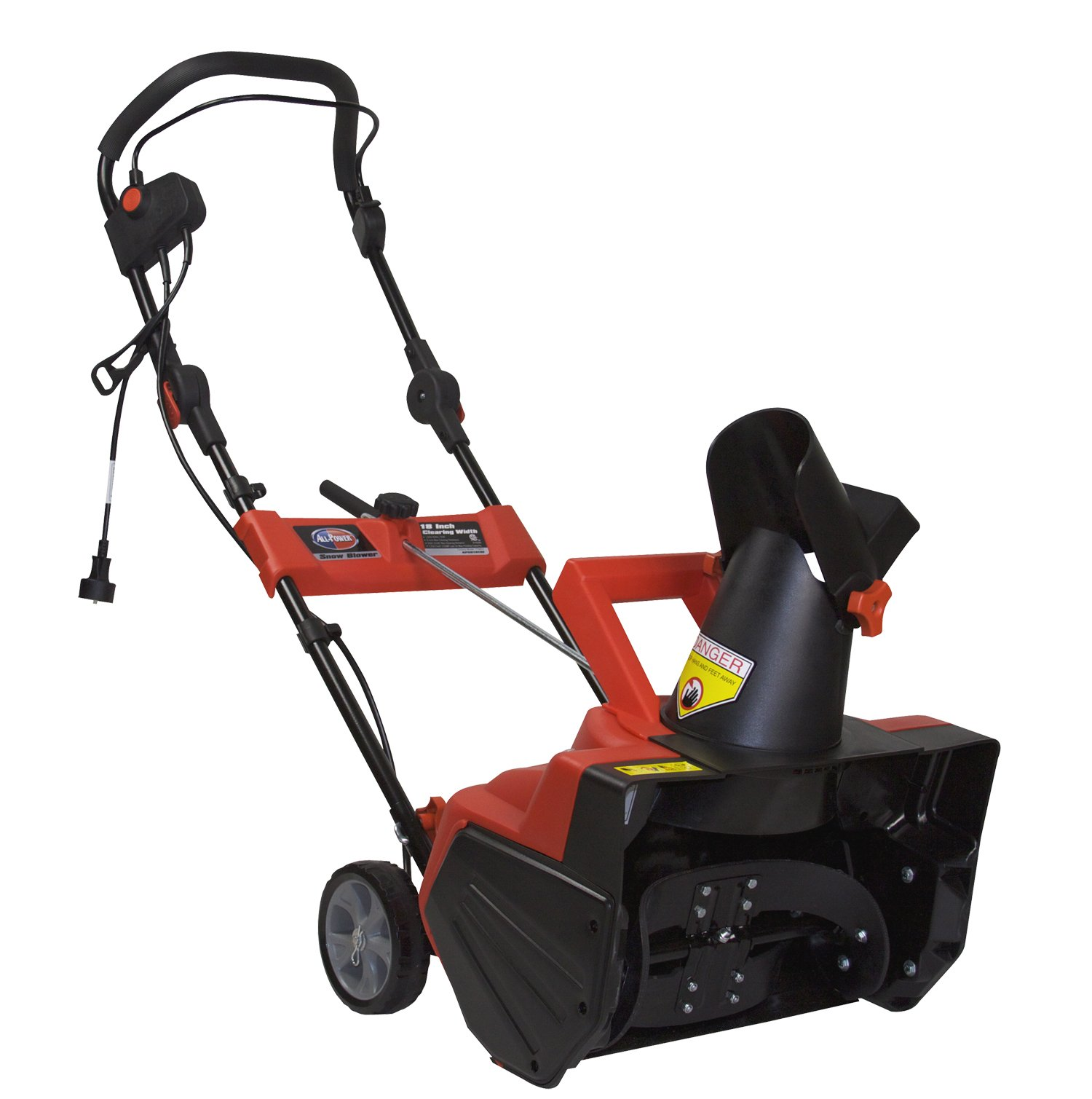 All Power America AP-SB1810E Electric Snow Blower, 18-Inch