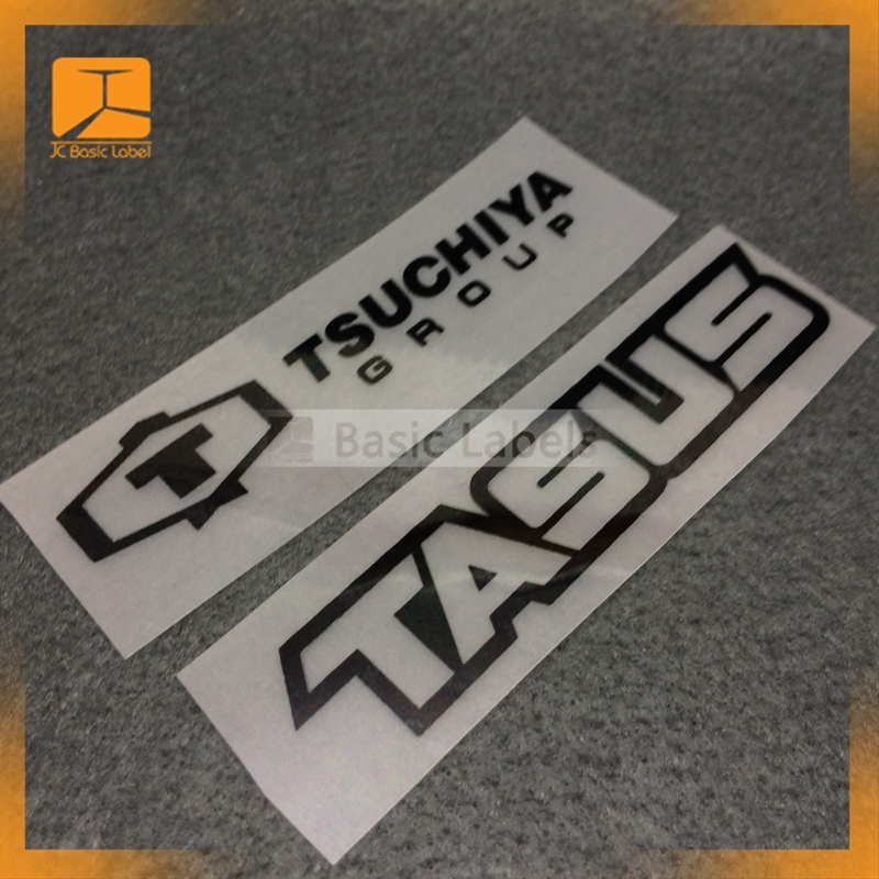 Custom clothing heat transfer 3d silicone rubber labels for garment