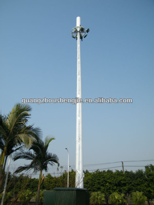 SJ Microwave antenna steel mobile communication tower