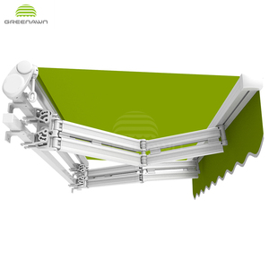 Greenawn high quality aluminum awning parts outdoor retractable awnings
