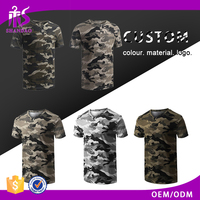 2017 Guangzhou Shandao Casual 180g 100% Polyester Printed Roll Short Sleeve O-Neck Men Military T-Shirt