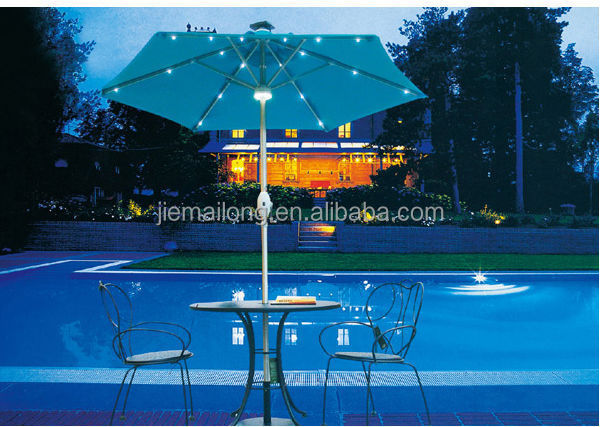 Cantilevered Solar Powered Led Outdoor Umbrella Parasol China Solar