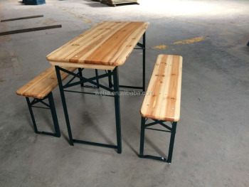 3 Legs Wood Beer Table Set For Bbq Picnic