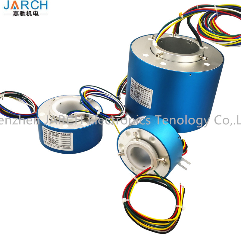 Electrical Connectors Electric Swivel Through Bore Assembly Rotary Joint Slip Ring for Carbon Brush