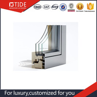 Triple glass Wide range of aluminum profile BI-FOLDING doors from China Supply